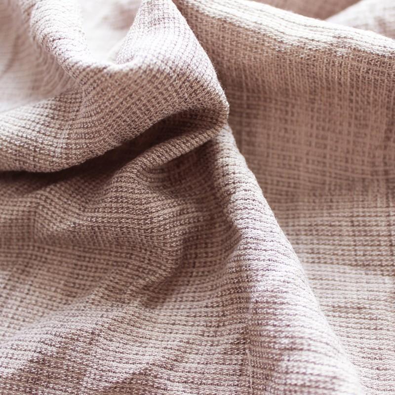 Tissus polyester effet froissé gris perle