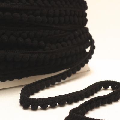 Galon à pompons noir
