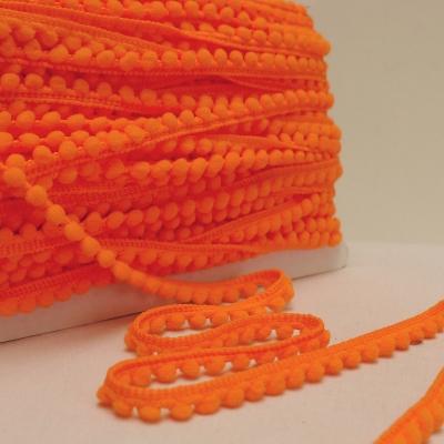 Galon à pompons orange