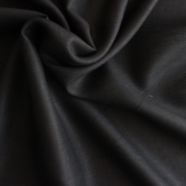 Black linnen plain fabric