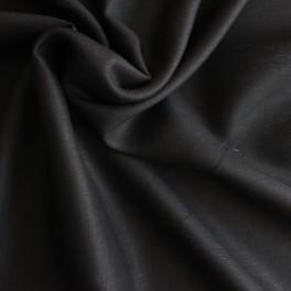 Tissu en 100% lin noir
