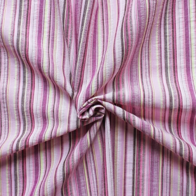 Cotton fabric with mauve lines