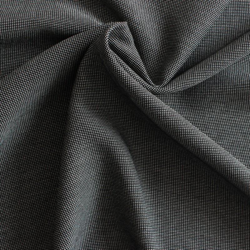 Tissus 100 polyester chin blanc et noir - Tissus noir et blanc ...