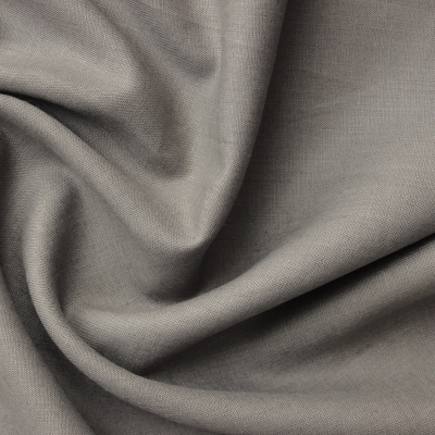 Donkergrijze linnen stof