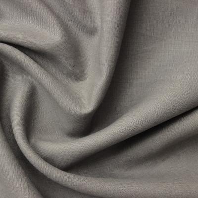 Tissu en 100% lin taupe
