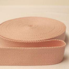 Sangle coton rose pâle