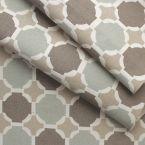 Tissu en coton imprimé mosaique bleu