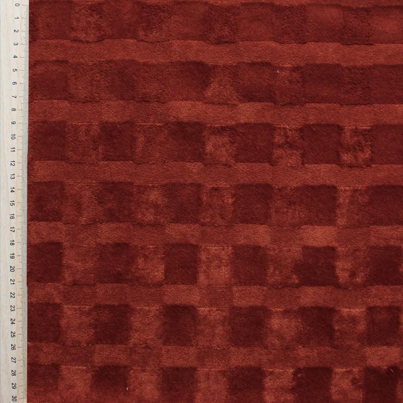 Orange dark Velvet fabric