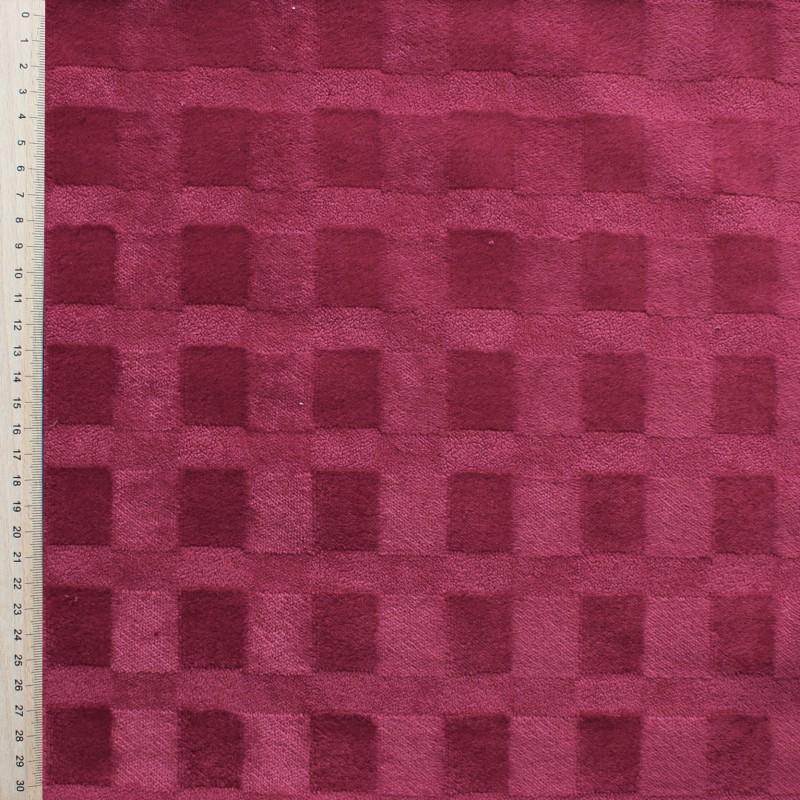 Raspberry pink Velvet fabric