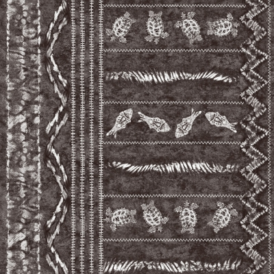 Printed fabric with drawings ethnic pattern