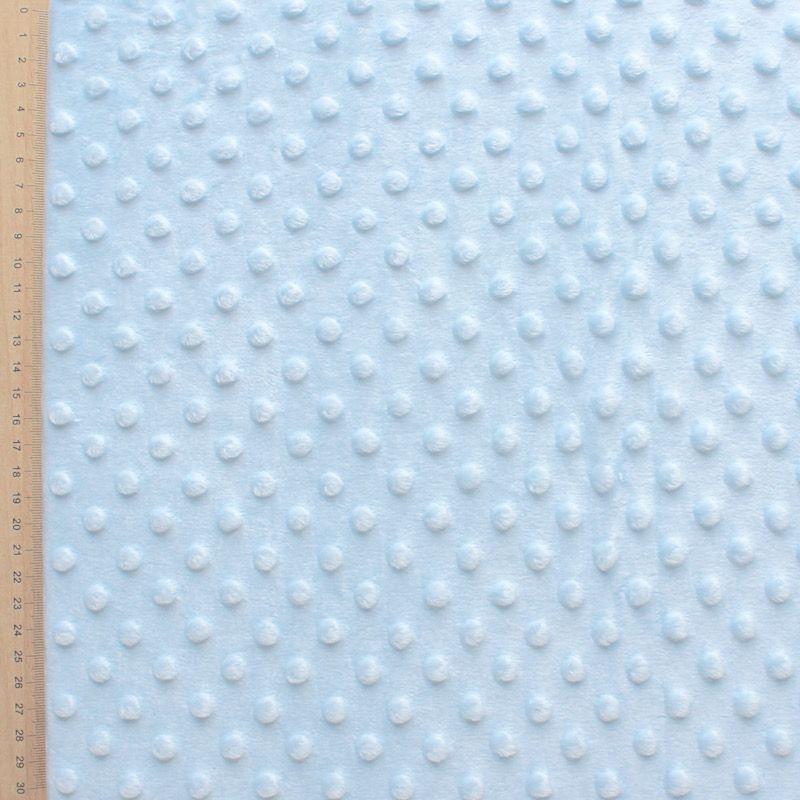 Tissu velours Minky bleu ciel