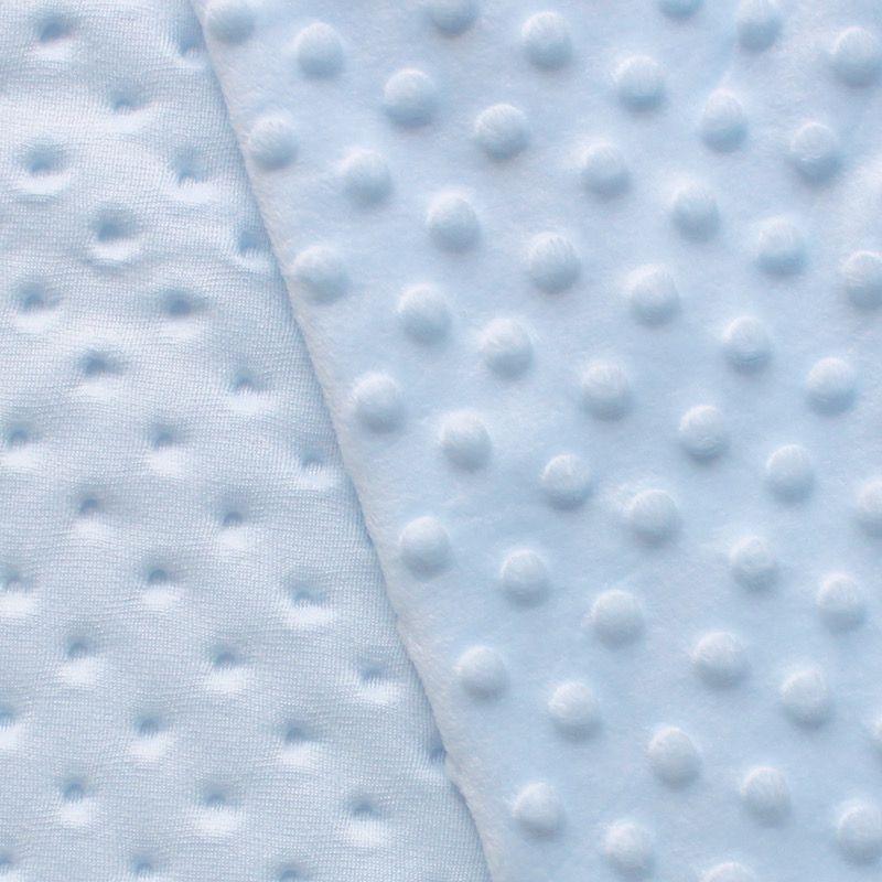 Blue Minky velvet fabric
