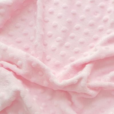 Tissu velours Minky rose
