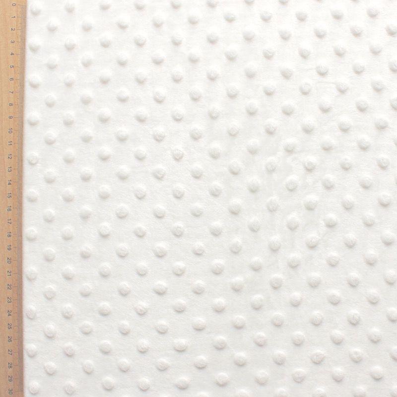 White Minky velvet fabric
