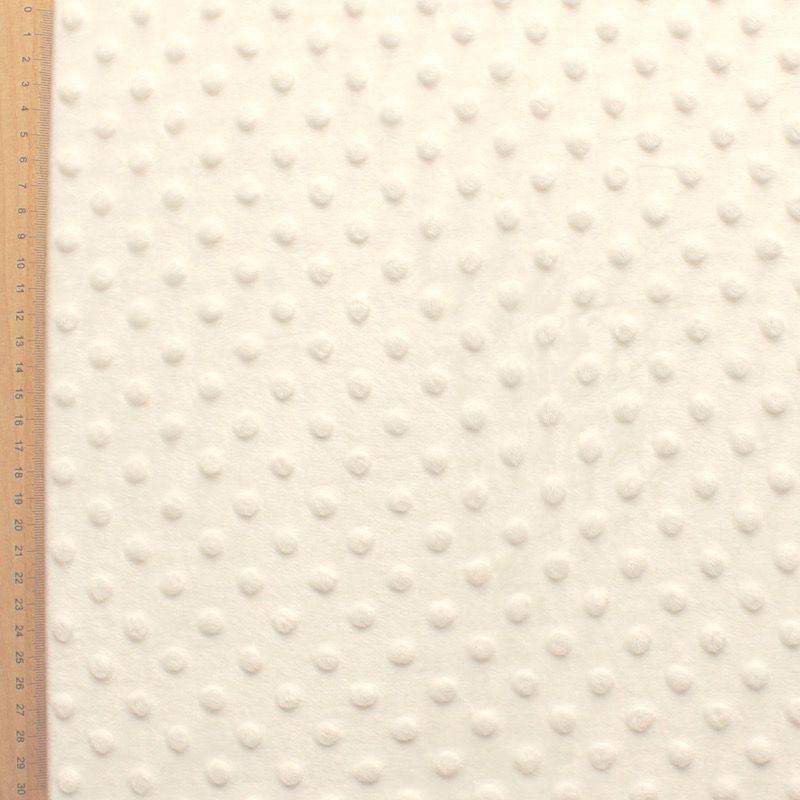 Ivory Minky velvet fabric