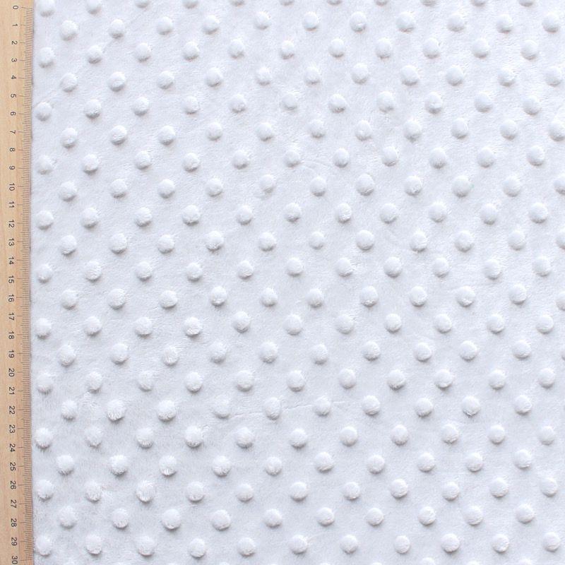 Gray Minky velvet fabric