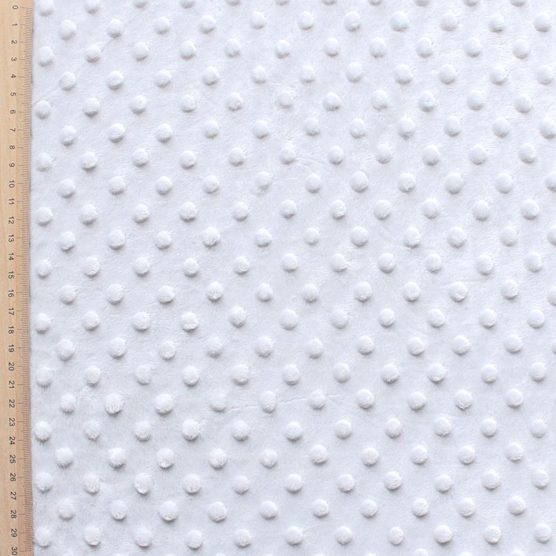 Tissu velours Minky gris