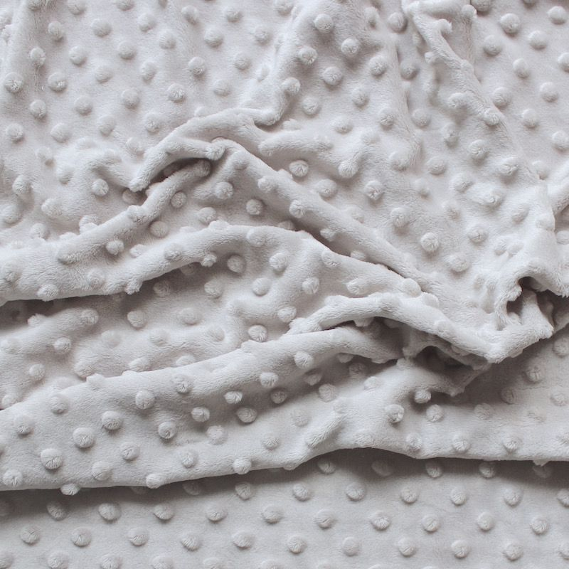 Tissu velours Minky taupe