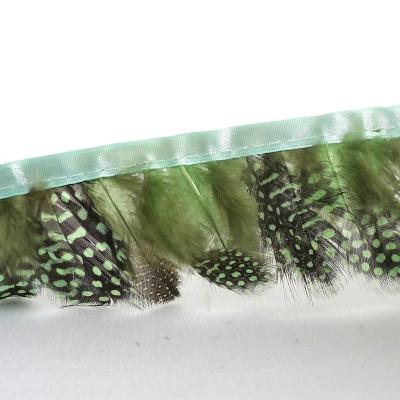 galon plumes de perdrix vert jaune