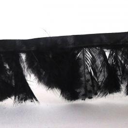 galon plumes de perdrix noir
