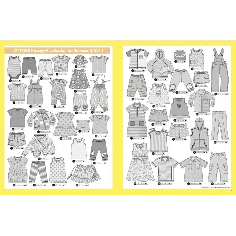 Sewing magazine Ottobre design Kids - Ete 3/2014