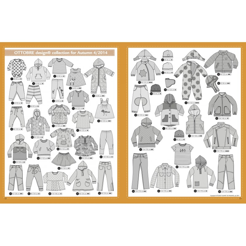 Sewing magazine Ottobre design Kids - Automne 4/2014