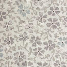 Tissu en coton imprimé petites fleurs vertes et jaune