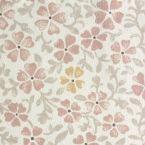 Tissu en coton imprimé petites fleurs grises et bleues