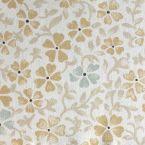 Tissu en coton imprimé petites fleurs jaune et vertes
