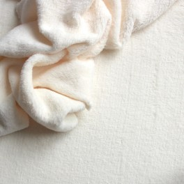 Velours Minkee blanc cassé uni