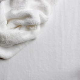 Velours Minkee blanc uni