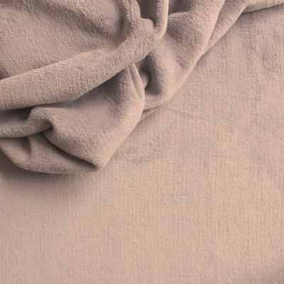 Beige velvet fabric