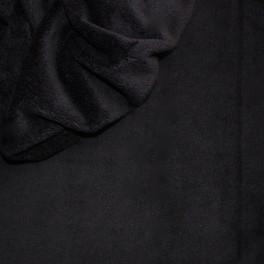 Minkeestof effen zwart