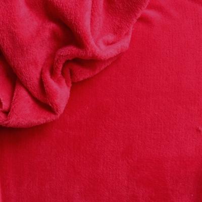 Velours Minkee rouge uni