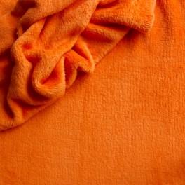 Velours Minkee orange uni
