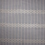 Reversible grey and beige fabric with geometric design