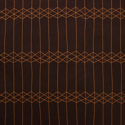 Reversible brown and orange fabric with geometric design