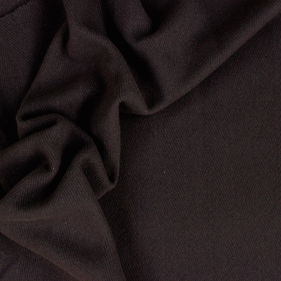 Grey wool and polyamide fabric with white chevrons