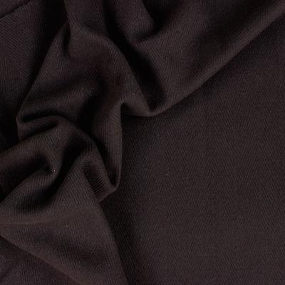 Tissu en laine brun à chevrons ton sur ton