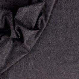 Donkerblauw chevrons wol en polyester stof
