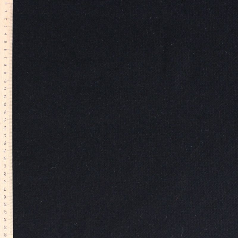 Wool and polyamide fabric double sided blue / grey