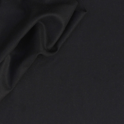 Wool and polyamide fabric black