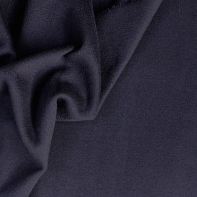 Wool and polyamide fabric navy blue