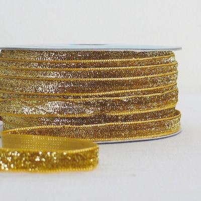 ruban velours lurex doré