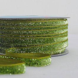 ruban velours lurex vert