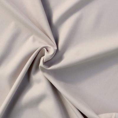 Polyester fabric skin look soft gray uni