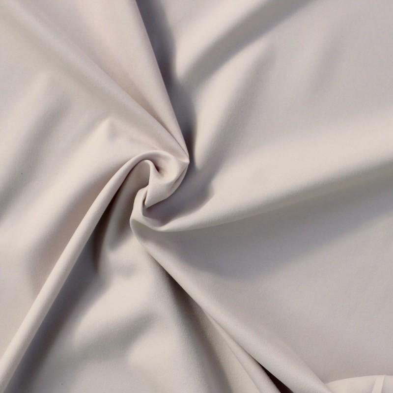 Tissu en polyester aspect peau de p che uni gris - Tissu peau de peche ...