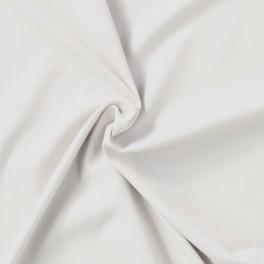 Tissu en polyester aspect peau de pêche uni blanc