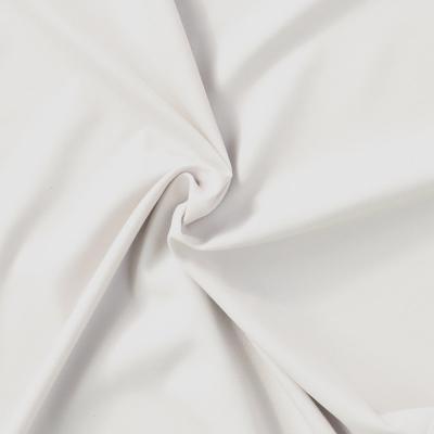 Meubelstoffen Polyester weefsel huid er zacht wit uni