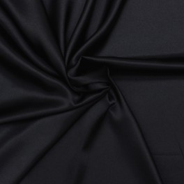 Polyester fabric skin look soft black uni